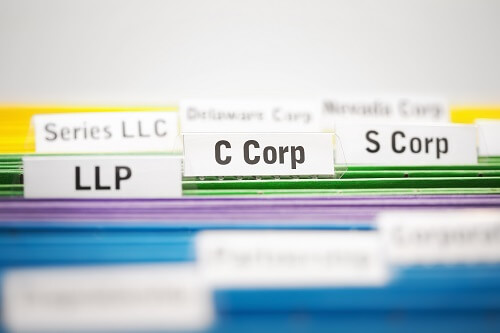 Picture of filings for LLP C Corp and S Corp